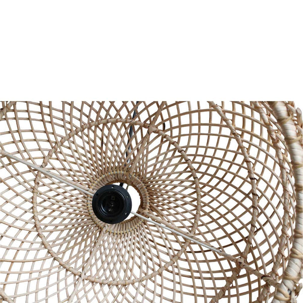 Maze Lamp Shade with Pendant - Handmade Rattan - Natural