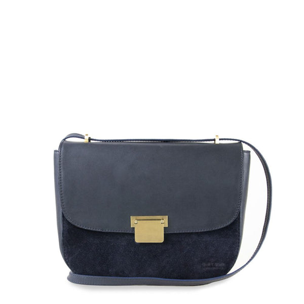 Bag - Meghan - Eco Classic Leather & Suède- Navy