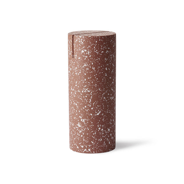 Photo Stand - Cylinder - Terrazzo - Red