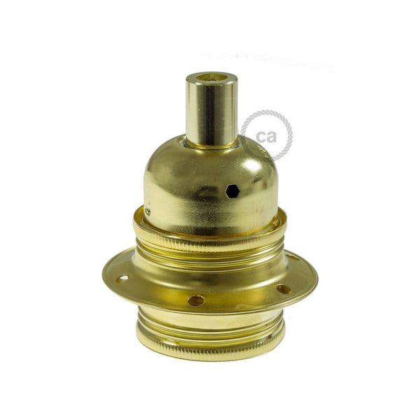 Bulb Holder W/Shade Rings - E27 - Metal - Brass