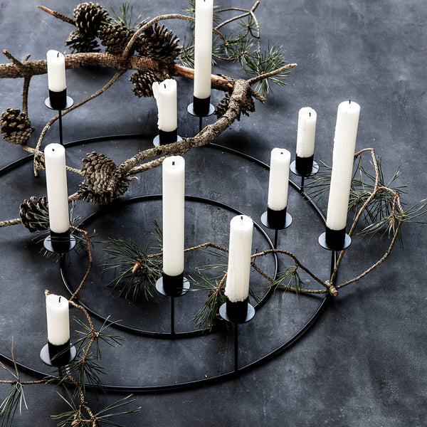 Candle Stand - Ring - Black - 4 Candles