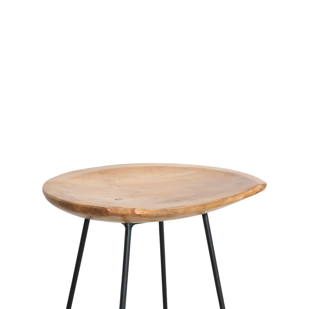 Bar Stool Teak Amp Iron Available To Pre Order