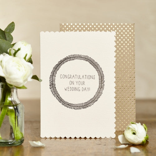 Greeting Card - Wedding Wreath