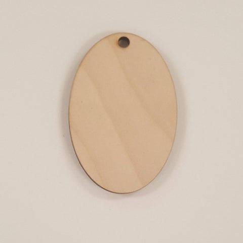 Wood Ornaments Oval Optional Hole (Unit.Price)