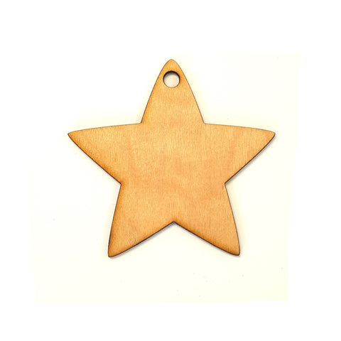 Wood Christmas Ornaments Star (Package.Price)