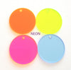 Acrylic Circle Translucent Colors With hole (Package.Price)