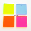 Acrylic Square Translucent Colors With hole (Package.Price)