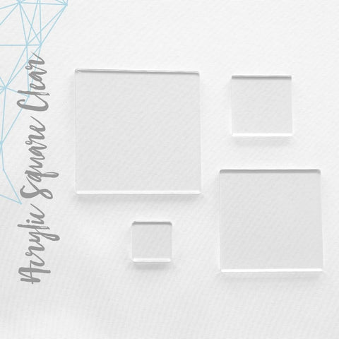 "Acrylic Square Clear 3/16"" 1/4"" 3/8"" Thick (Package.Price)"
