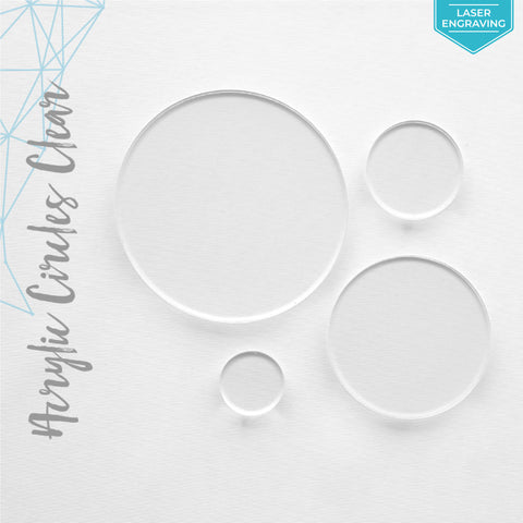 "Laser Engraving Acrylic Circles Clear 1/16"" or 1/8"" (Package.Price)"