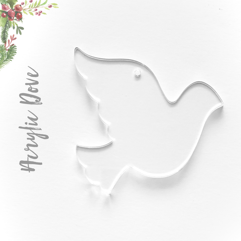 Acrylic Christmas Ornaments Dove