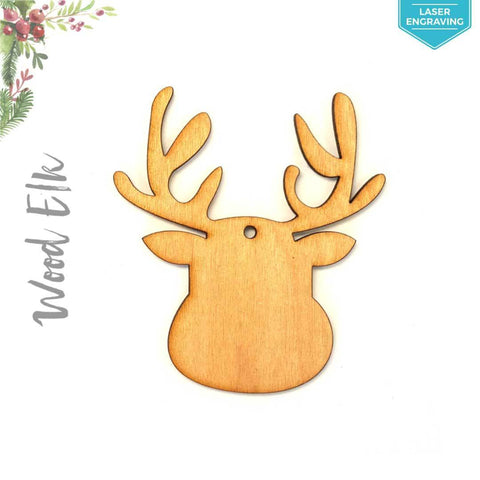 Laser Engraving Wood Christmas Ornaments Elk