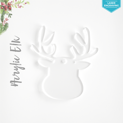 Laser Engraving Acrylic Christmas Ornaments Elk
