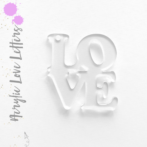 Acrylic Keychains Love Letters