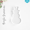Laser Engraving Acrylic Christmas Ornaments Snowman