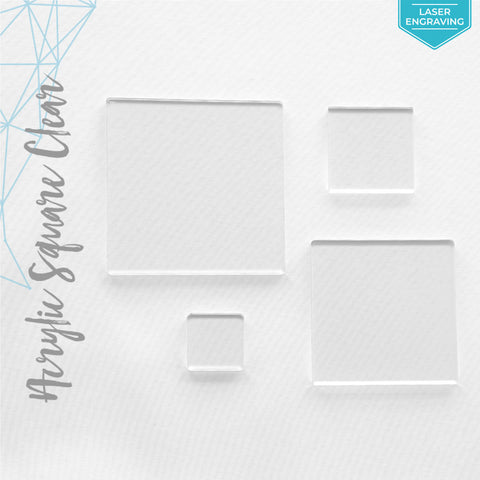 "Laser Engraving Acrylic Square Clear 1/16"" or 1/8"" (Package.Price)"