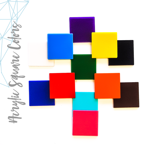 Acrylic Square Colors (Package.Price)