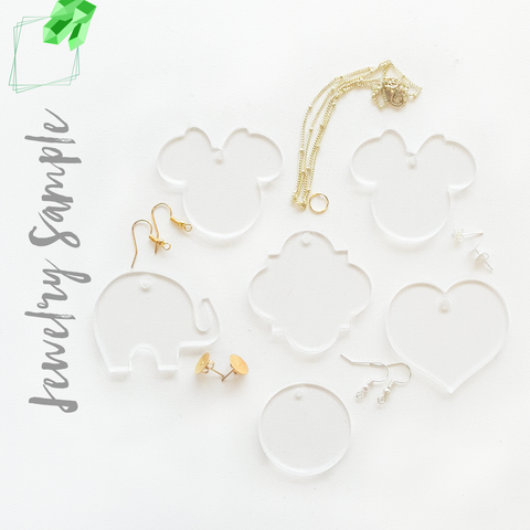 Acrylic Jewelry Samples (Pack 24 Units)