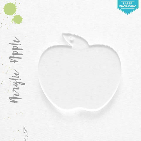 Laser Engraving Acrylic Keychains Apple