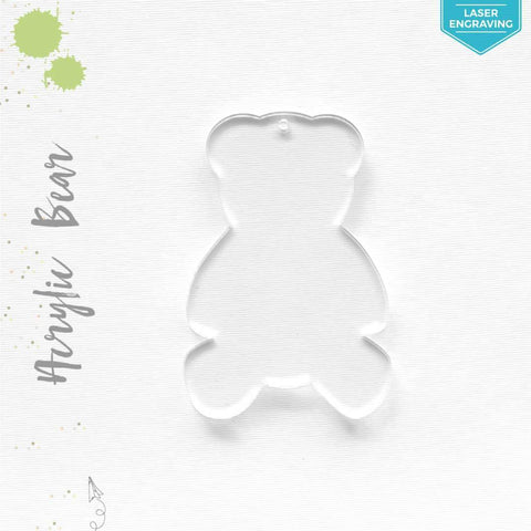 Laser Engraving Acrylic Keychains Bear