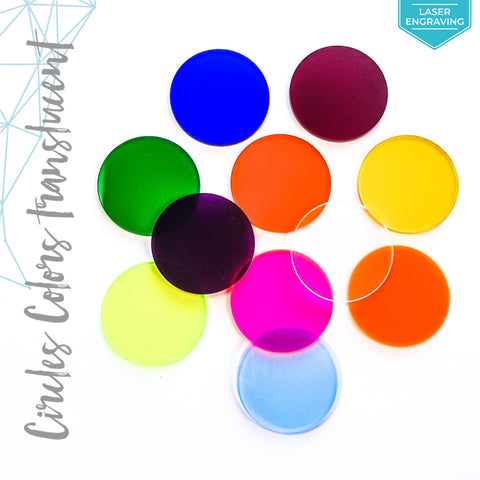 Laser Engraving Acrylic Circle Translucent Colors (Package.Price)