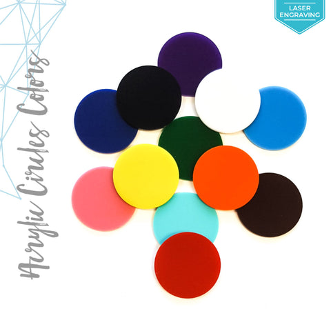 Laser Engraving Acrylic Circle Colors (Package.Price)