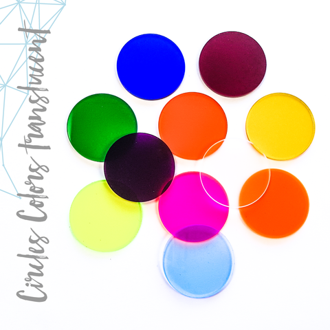 Acrylic Circle Translucent Colors (Package.Price)