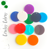 Acrylic Circle Colors With Hole (Package.Price)