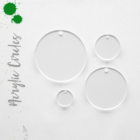 Acrylic Circles Clear Whit Hole (Package.Price)