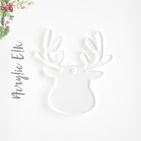 Acrylic Christmas Ornaments Elk