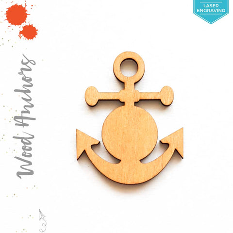 Laser Engraving Wood Keychain Anchors (Package.Price)