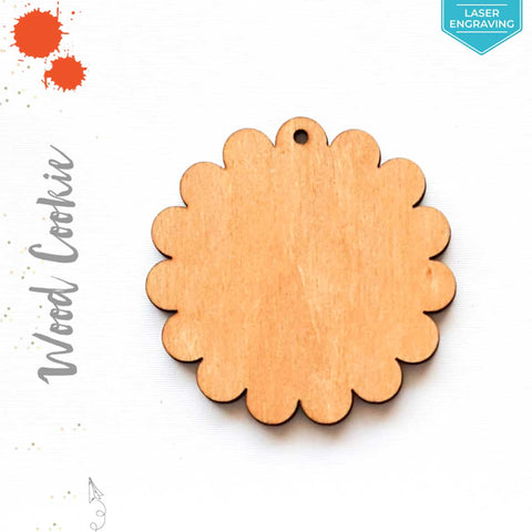 Laser Engraving Wood Keychain Cookie (Package.Price)