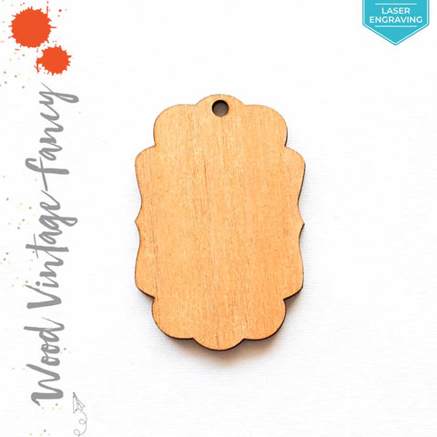 Laser Engraving Wood Keychain Vintage Fancy (Package.Price)
