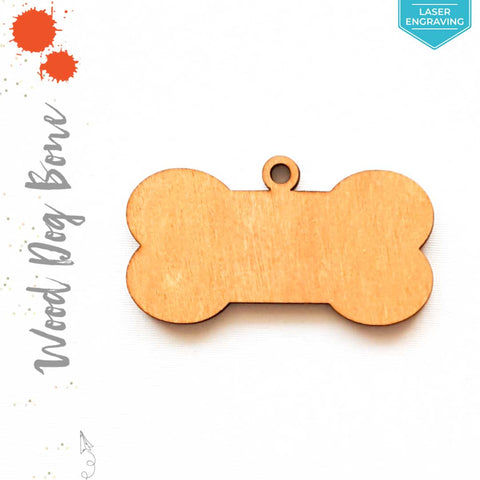 Laser Engraving Wood Keychain Dog Bone Soto (Package.Price)