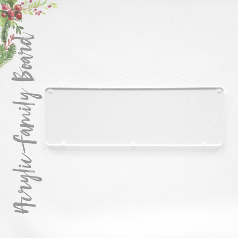 Acrylic Christmas Family Boards- Rectangle (Pack x 3 Units)