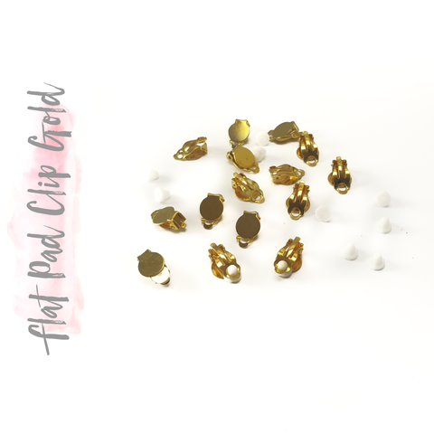 Iron Flat Pad Clip On Earring Findings Gold (Package.Price)