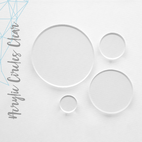"Acrylic Circles Clear 1/16"" or 1/8"" (Package.Price)"