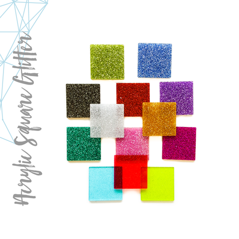 Acrylic Square Glitter (Package.Price)
