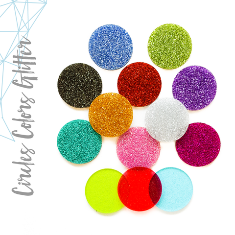 Acrylic Circle Glitter (Package.Price)
