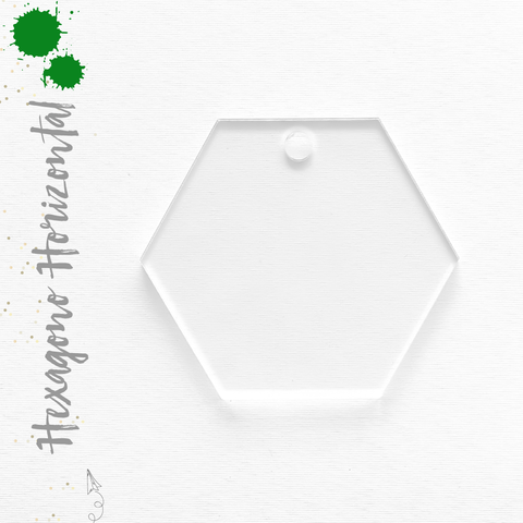 Acrylic Keychain Horizontal Hexagons  (Package.Price)