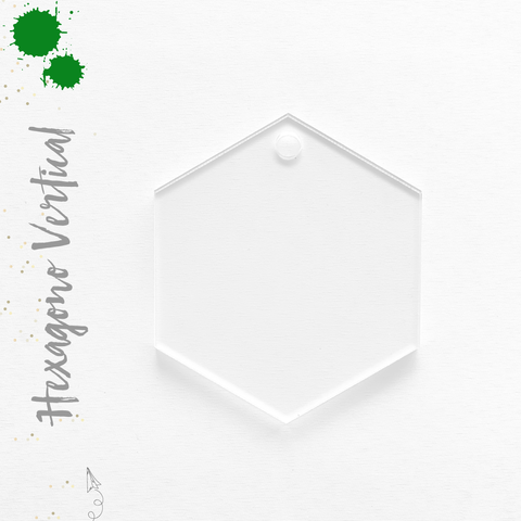 Acrylic Keychain Vertical Hexagons  (Package.Price)