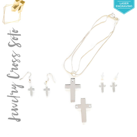 Laser Engraving Acrylic Jewelry Cross