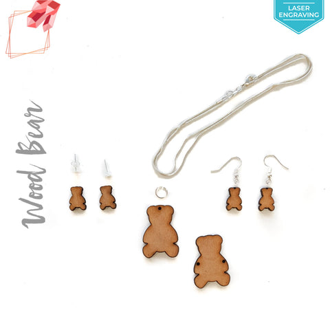 Laser Engraving Wood Jewelry Bear (Package.Price)