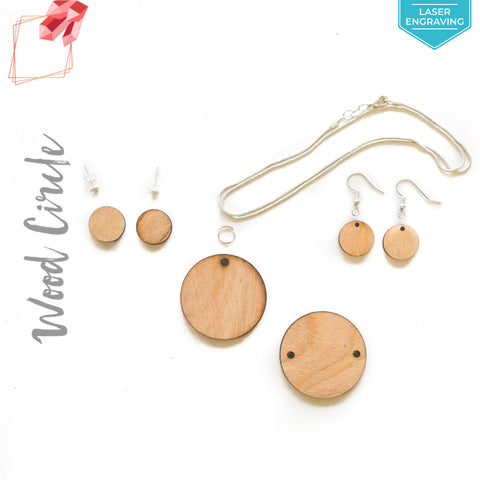 Laser Engraving Wood Jewelry Circles (Package.Price)