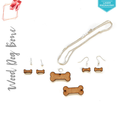 Laser Engraving Wood Jewelry Dog Bone (Package.Price)