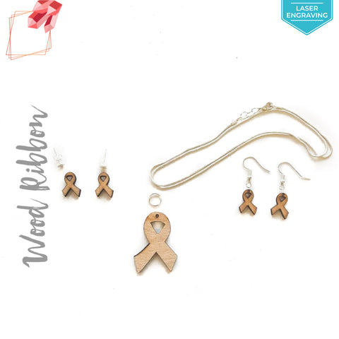 Laser Engraving Wood Jewelry Ribbon (Package.Price)