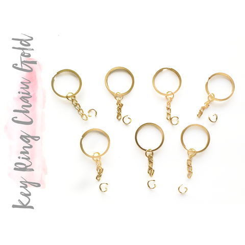 Key Ring W. Chain Gold (Package.Price)