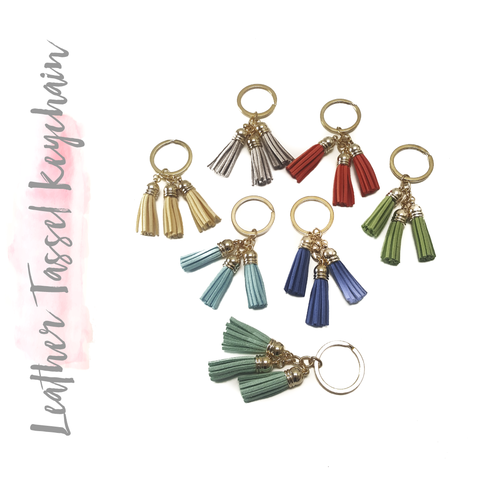 Leather Tassel Keychain Bag Pendant Car Key Chain (Package.Price)