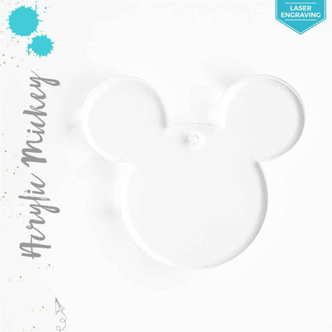 Laser Engraving Acrylic Keychains Mickey Mouse
