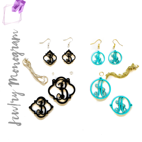 Acrylic Jewelry Monograms
