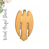 Wood Christmas Ornaments Angel David (Package.Price)